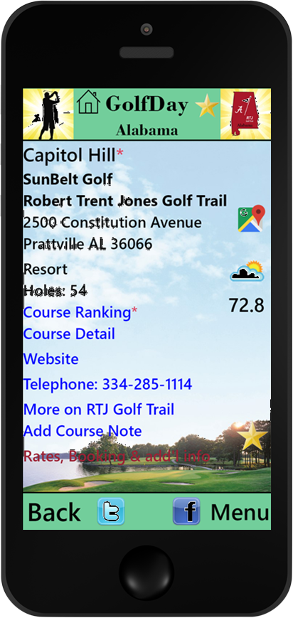 GolfDay Alabama Course Detail Page