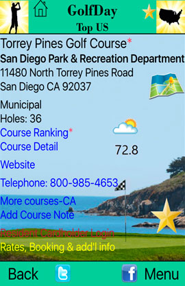 GolfDay Top US Course Page Torrey Pines