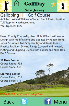 GolfDa New Jersey Course Description