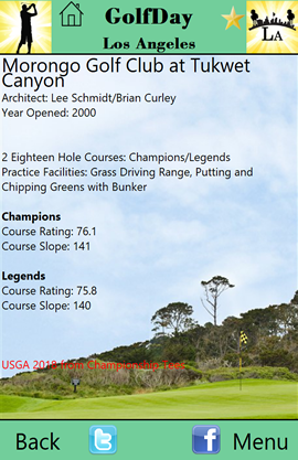 GolfDay Los Angeles Course Description