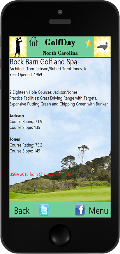 GolfDay North Carolina Course Detail Page